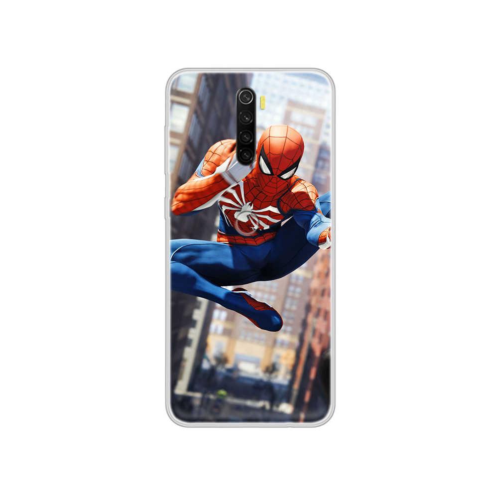 Marvel Spider-Man Fashion Mewah Prime Etui Transparan Phone Case untuk Xiaomi Redmi Note 3 4 5 6 7 8 9 9 S Pro Max 8T 4X