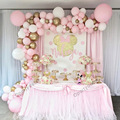 110 шт. «сделай сам», гирлянда воздушных шаров для вечеринки в честь Дня рождения девочки, юбилея, пастельные розовые золотые металлические ш...