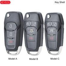Caso remoto do escudo da chave do carro da aleta de keyecu para o explorador 2013-2015 fcc da borda da fusão de ford id: N5F-A08TAA (escudo somente)