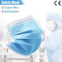 50 Uds mascarillas faciales de 3 capas, mascarilla protectora desechable para la boca, antipolvo, protección antiniebla, mascarillas protectoras para la boca, máscaras de seguridad