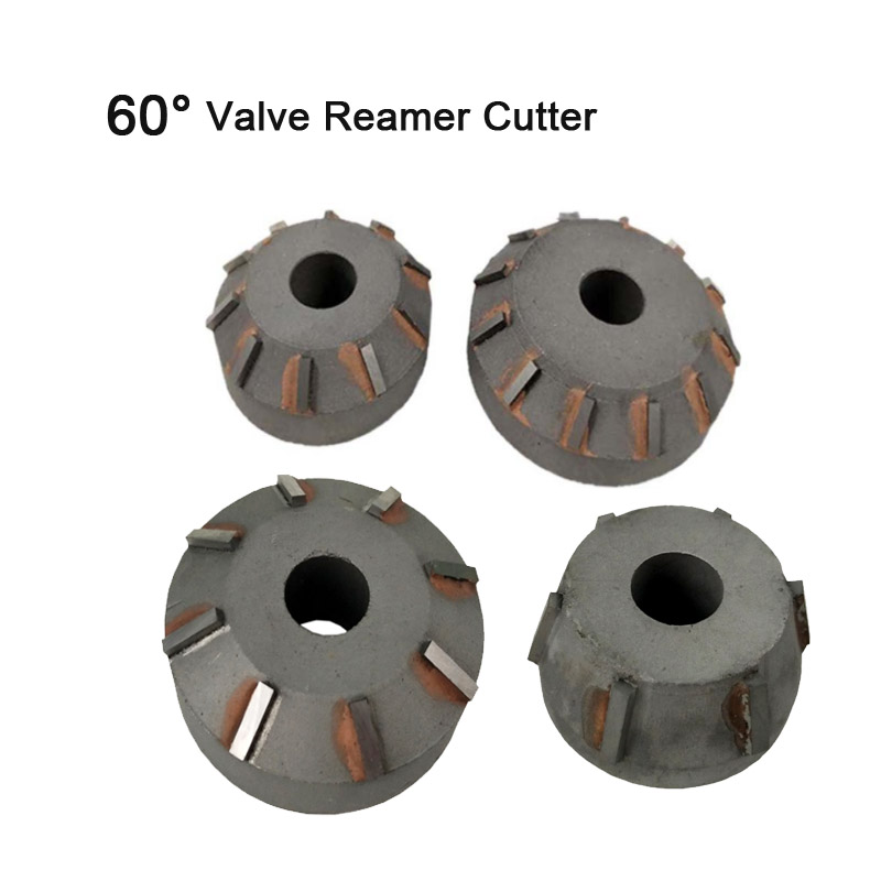 60 Degree Angle Carbide Valve Reamer Valve Seat Cutter For Motorcycle Car Engine Valve Seat Repair Reamer Head