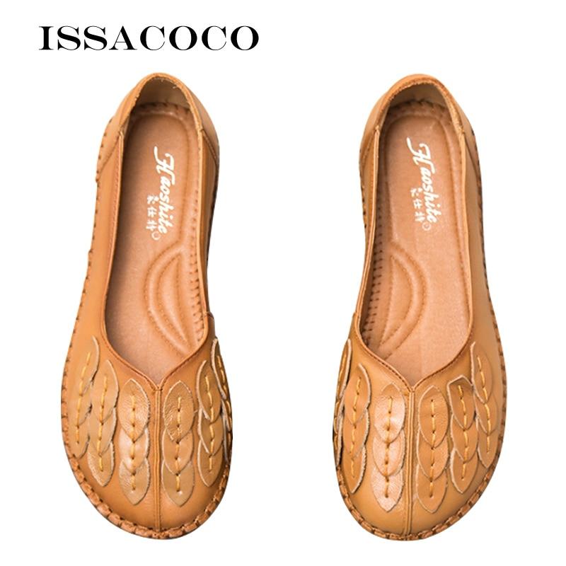 Women's Flats Shoes Rubber Women's Autumn Shoes For Women Ladies Female Shoes Leather Footwear For Women Women's Loafers 2020