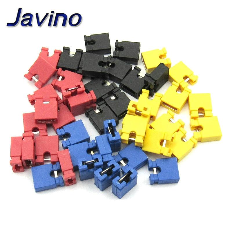 100 шт. контактный разъем Перемычка блоки разъем 2,54 мм для 3 1/2 жестких дисков CD/DVD привод материнской платы и/или расширения автомобиля
