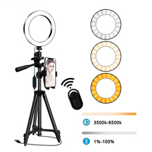 20cm 26cm led selfie ring light with phone camera holder photography lighting with tripod remote control for photo video youtube Selfie Ring Lamp LED Ring Light Selfie Phone Holder Photography Lighting Camera Tripod Kit Photo Video Light Ring for Youtube