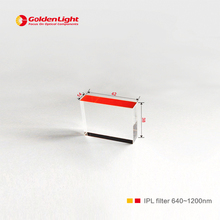 Size:42*14*38mm , coating side:42*14mm/Sapphire IPL crystal for beauty laser device / wavelength : 600nm/640nm~1200nm