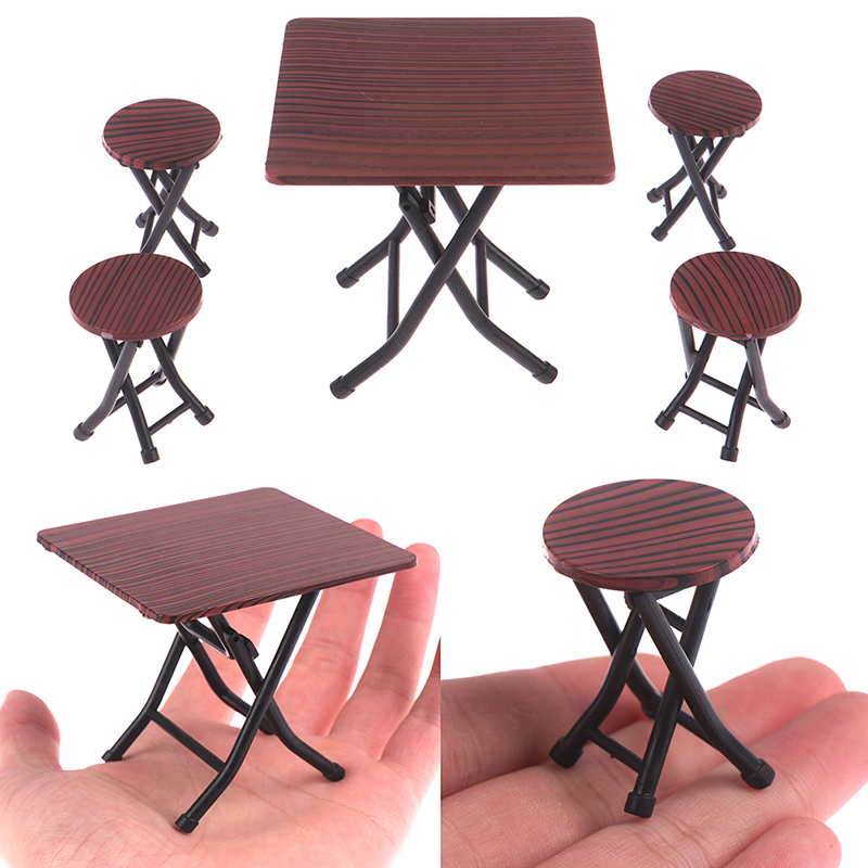 Superb Us 6 0 32 Off 4Pc Set Dollhouse 1 12 Miniature Wooden Dining Chair Table Furniture Set For Doll House Kitchen Food Furniture Toys On Aliexpress Caraccident5 Cool Chair Designs And Ideas Caraccident5Info