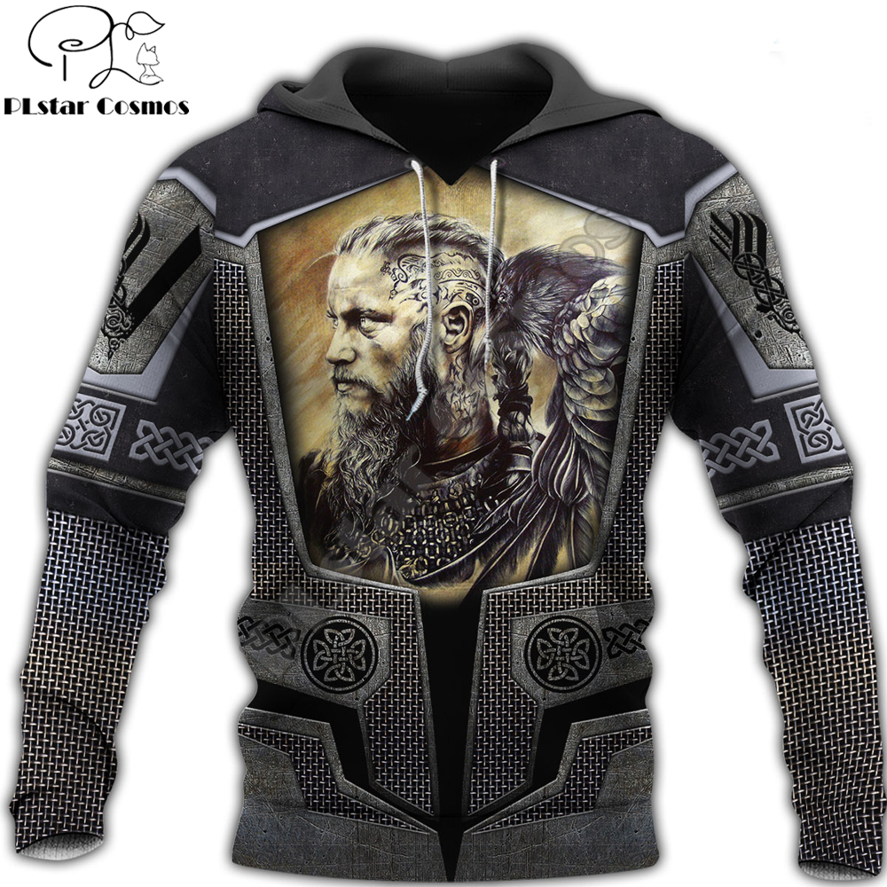 Fashion Mens Viking God hoodies 3D printed Tattoo Sweatshirt Hoodie Harajuku Autumn Streetwear Unisex Casual Tracksuit DW0116