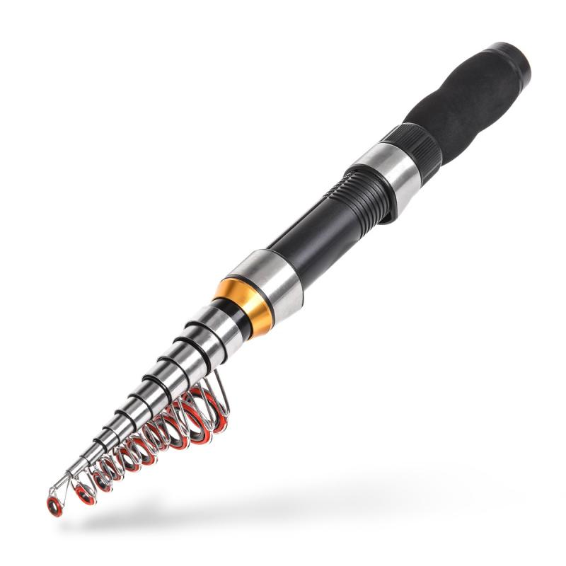 Ultralight Fishing Rod Carbon Fiber Telescopic Rod Sea Spinning Pole Power Hand Fishing Tackle Lure Portable Fishing Tools