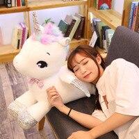 Giant 80/65cm Unicorn Plush Toy Soft Stuffed Popular Cartoon Unicorn Doll Animal Horse Toy High Quality Toys for Children Girls