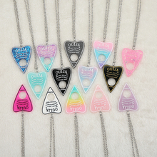1PC Cute Multicolor Resin Ouija Plate Necklace for Children Birthday Gift Woman Jewelry
