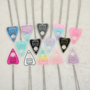 1PC Women Necklace Multicolor Resin Ouija PlatePendant for Children Birthday Gift Woman Jewelry(China)