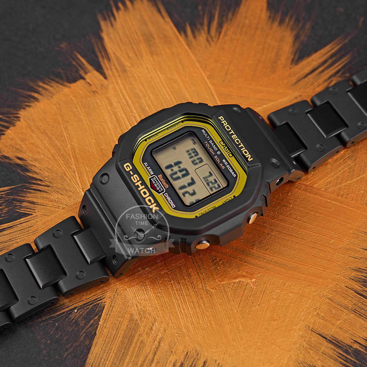 Casio ดูสมาร์ทผู้ชาย G ช็อกแบรนด์ชั้นนำหรูหราชุด 200 เมตรกันน้ำกีฬานาฬิกาควอตซ์ LED ดิจิตอลทหารดำน้ำผู้ชายนาฬิกา G- Shock พลังงานแสงอาทิตย์บลูทู ธ 6 วงวิทยุควบคุมนาฬิกาข้อมือ relogio masculino reloj hombre erkek kol