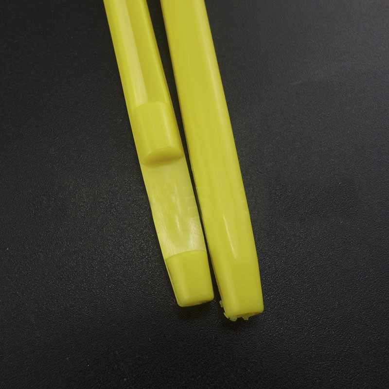 簡単な魚のフックループ Tyer & Disgorger ツールネクタイ高速結び目ツール用フックツールライン層キット黄色プラスチック * 2 個