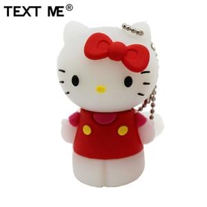 Image 2 - Tekst Me Rood Pinl Bule Gree Geel Kleur Schattige Hello Kitty Schoen Usb Flash Drive Usb 2.0 4Gb 8gb 16Gb 32Gb 64Gb Pendrive Gift