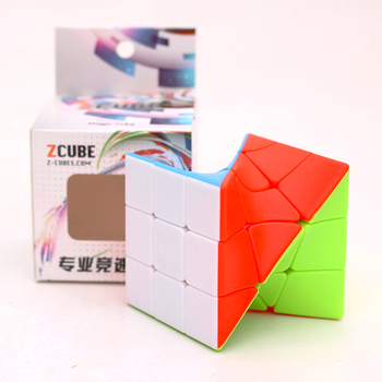 Zcube 3x3 Torsion Magic Cube Coloful Twisted Cube Puzzle Toy Stickerless Puzzles 3x3x3 Cubes Educational Toys For Children yongjun diamond symbol 3x3x3 magic cube yj 3x3 professional neo speed puzzle antistress fidget educational toys for children