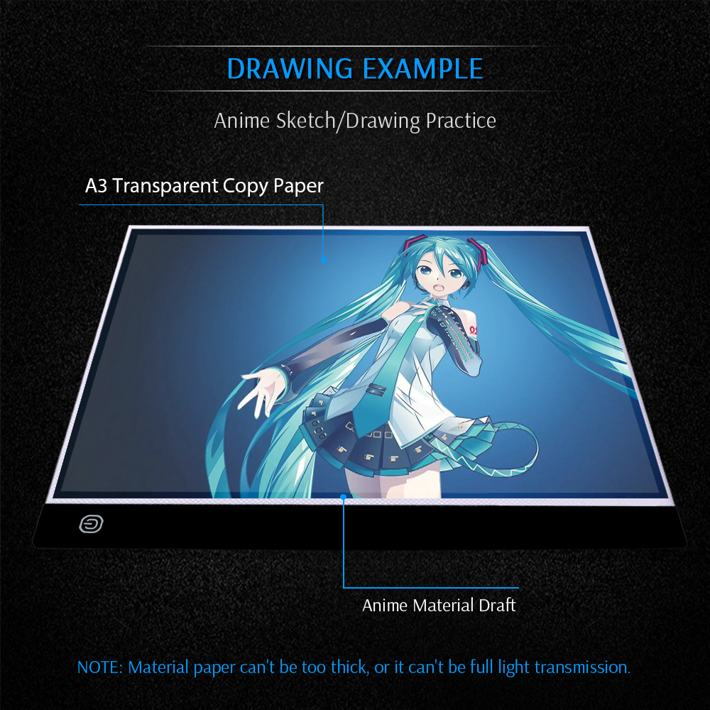 Image 3 - A3 LED Light Pad Artcraft Tracing Light Box Copy Board Digital  Tablets Painting Writing Drawing Tablet Sketching Animation-in Digital  Tablets from Computer