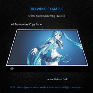 Image 5 - Цифровой планшет для рисования CHIPAL A3 со светодиодный Ной подсветкой, доска для копирования, графические планшеты, художественная живопись, блокнот для рисования, анимация