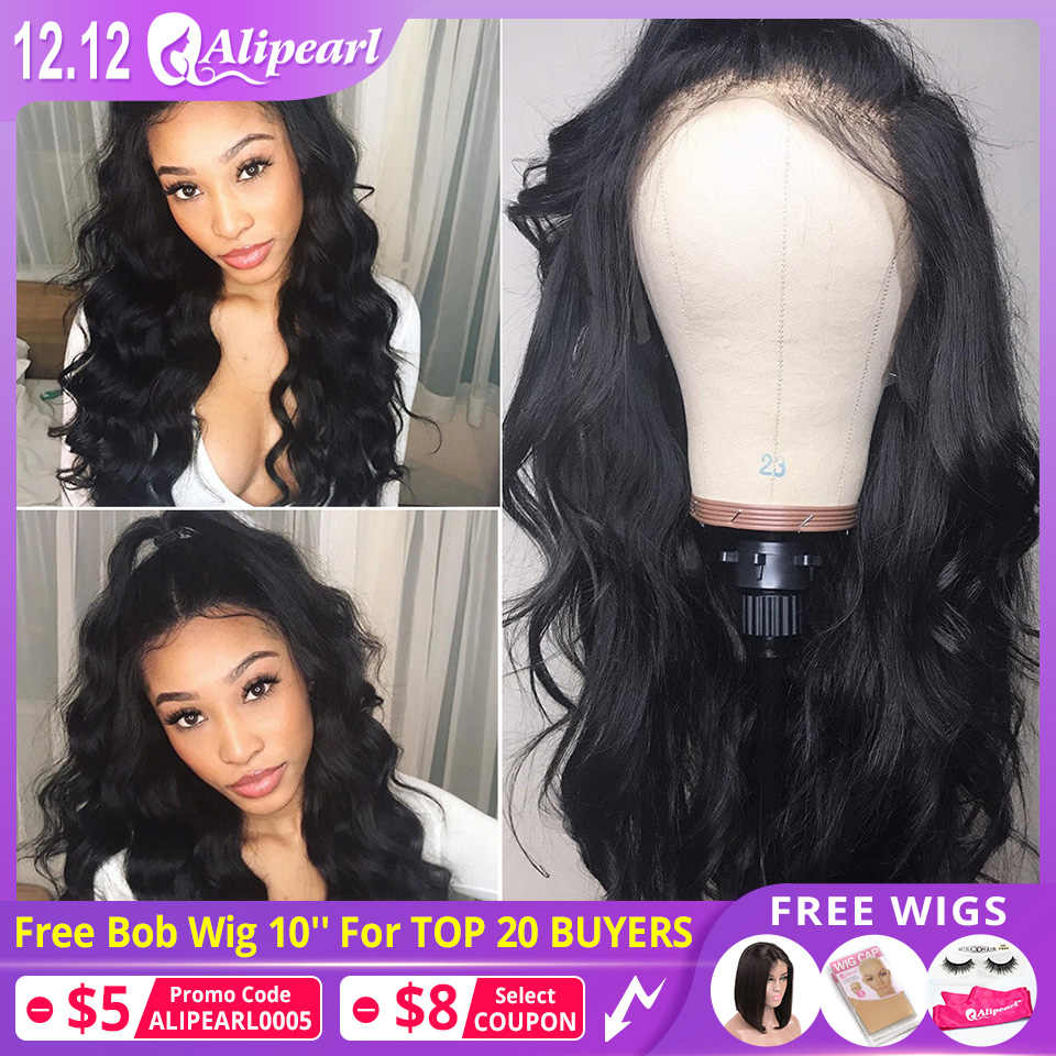 13x6 Lace Front Human Hair Wigs Pre Plucked 150% 180% Brazilian Body Wave 370 Lace Frontal Wigs For Women Remy AliPearl Hair Wig