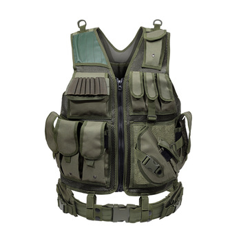 Tactical Vest Military Combat Armor Vests Mens Tactical Hunting Vest Army Adjustable Armor Outdoor CS Training Vest Airsoft 8