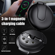 3-in-1 Magnetic Retractable Style Charger Portable Multifunctional Car Holder Mobile Phone Bracket Fast