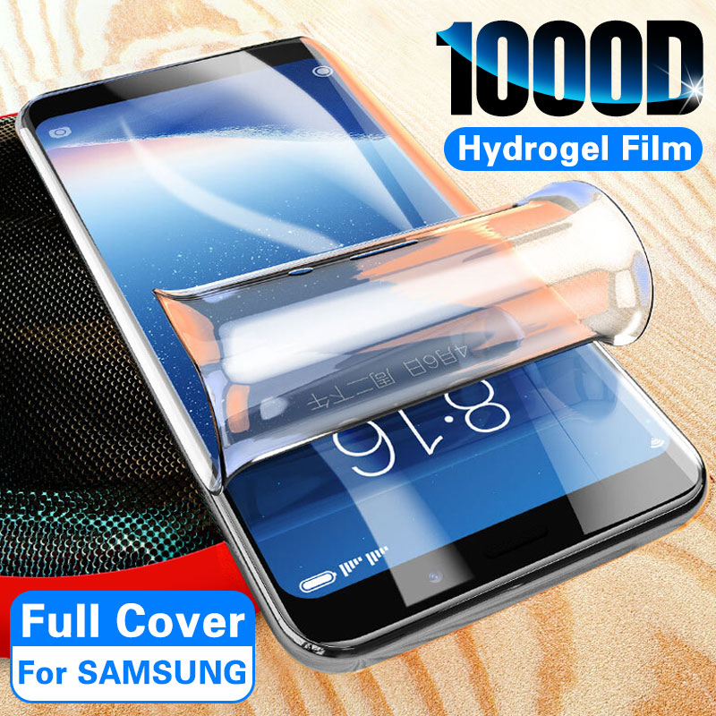 1000D Screen Protector Hydrogel Film On For Samsung S8 S9 S10e Plus S10 5G Protective Film For Samsung Note 10 Plus 8 9 No Glass