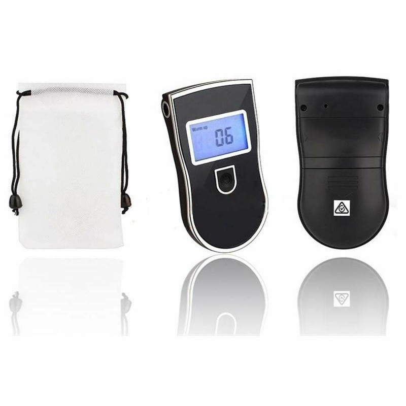 Professional Alcohol Meter Analyzer High Sensitivity Alcohol Breath Tester Breathalyzer 5 Mouthpieces