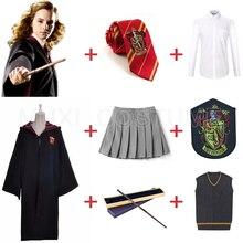 Форма Гриффиндора Гермиона Грейнджер косплей костюм дети взрослые версия Хэллоуин вечерние подарок для Харриса костюм