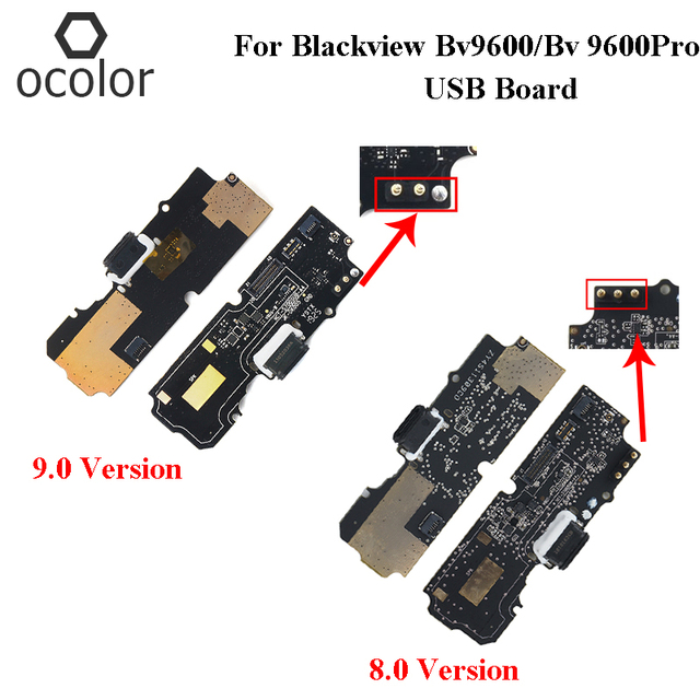 Ocolor עבור Blackview BV9600 9.0 USB לוח תיקון חלקי Blackview BV9600 פרו 8.0 USB תשלום התוספת לוח טלפון אבזרים