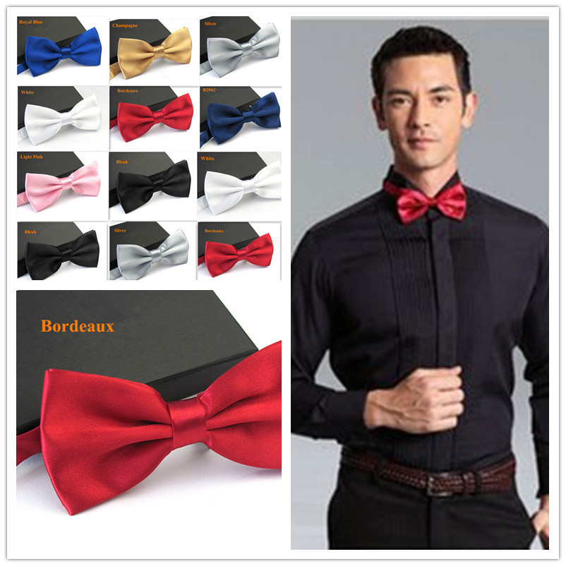 Men's Fashion Tuxedo Bowtie Butterfly Bow Ties For Men Wedding Party Bordeaus/Black/White/Silver/Champagne/Navy Blue/Pink/Blue
