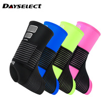 1pcs Elastic Ankle Support Brace for Basketball Sprain Prevention Adjustable Sports Compression Bandage Ankle Guard 1 pair compression ankle protectors anti sprain basketball football ankle brace supports straps bandage wrap heel protector