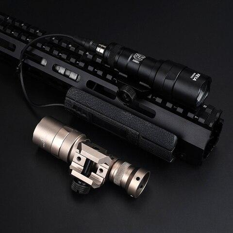 led 210lumens de longo alcance arma tatico tocha lanterna caca rifle luz