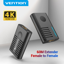 Vention HDMI Extender HDMI 2.0 Female to Female Repeater up to 10m 60m Signal Booster Active 4K@60Hz HDMI to HDMI Extension