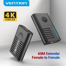 Vention extensor HDMI 2,0 hembra a hembra, repetidor de hasta 10m 60m, amplificador de señal activo 4K @ 60Hz, extensión HDMI a HDMI