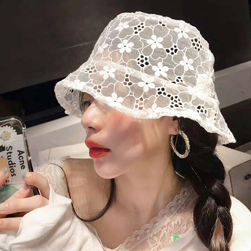 2020 New LACE Hat For WOMEN Soft Lace Flower Wide Brim Sun Hats Floppy Summer Hat Dress Lace Ladies Hat