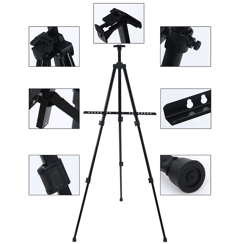 Tripod Display Easel Stand Drawing Board poster Bag display Adjustable Folding