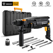 DEKO GJ181 220V 26mm AC Electric Rotary Hammer with Accessories BMC Box Four Functions Impact Power Drill for Woodworking