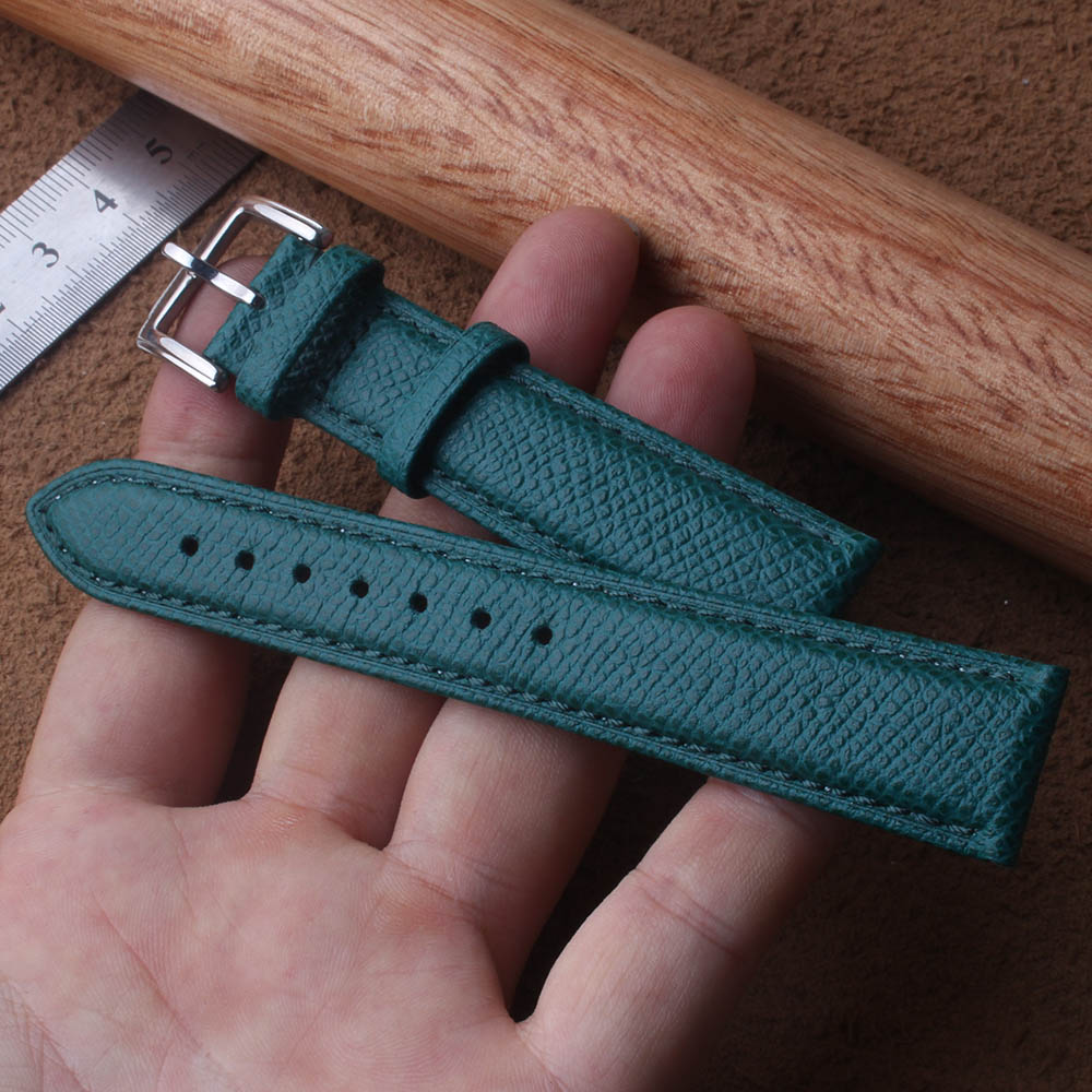 Green Lizard Pattern Genuine Leather Watches Band Strap Belt Watchband Silver Clasp / Buckle Watchband 14mm 16mm 18mm 20mm new