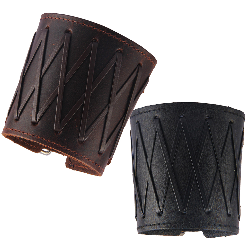 Men Medieval Gauntlet Cuff Arm Wrist Protector Bracer Arm Guards With Adjustable Strap, Two Color Available
