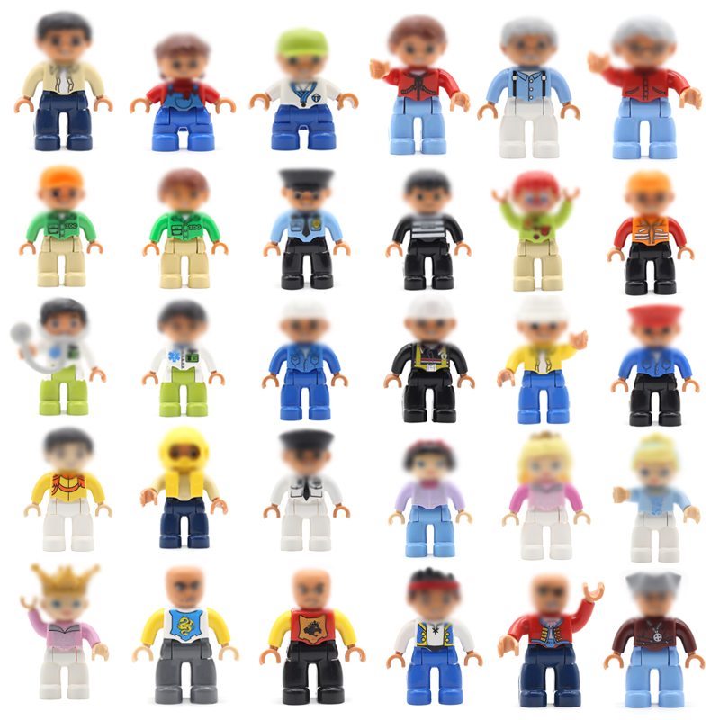 Family Occupation Character Big Building Blocks Accessories Doctor Police Compatible bricks Figure Model Sets Children Toys Gift 1