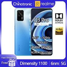 2021 realme Q3 Pro 8GB 256GB 5G telefon komórkowy Dimensity 1100 Octa Core 6.43
