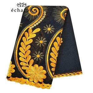 Image 1 - Шарф из 100% хлопка, женский шарф в африканском стиле, мусульманский шарф с цветочной вышивкой, шарф EC127