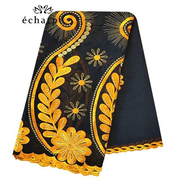 Шарф из 100% хлопка, женский шарф в африканском стиле, мусульманский шарф с цветочной вышивкой, шарф EC127