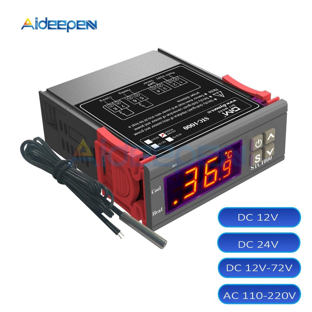50-99 °C Digitaler Temperaturregler Thermostat AC 110V-220V Heizungskühlung