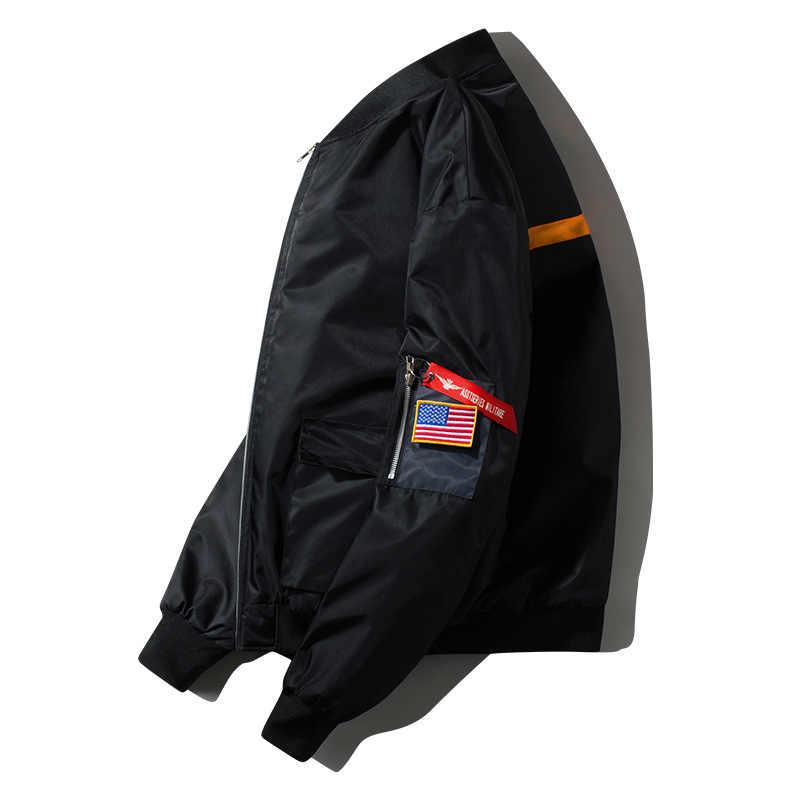 חדש חורף עבה טייס מעילי גברים מקרית MA1 Mens מפציץ מעיל בייסבול אחיד מרופד Streetwear חם צבאי בגדים