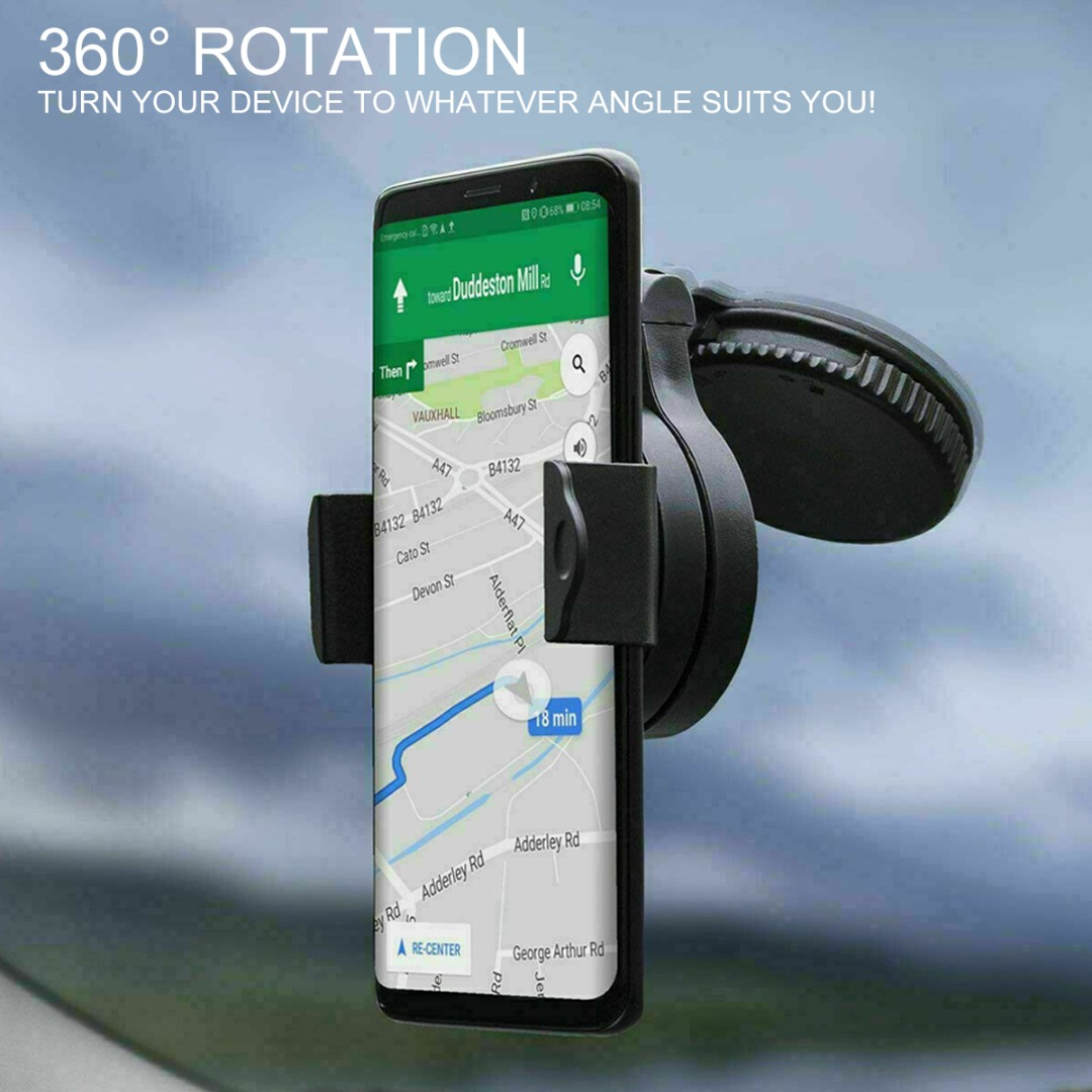 New 360 Degree Universal Rotation Car Windscreen Suction Mount Holders For Mobile Smart Cell Phone Bracket Stand Accessories