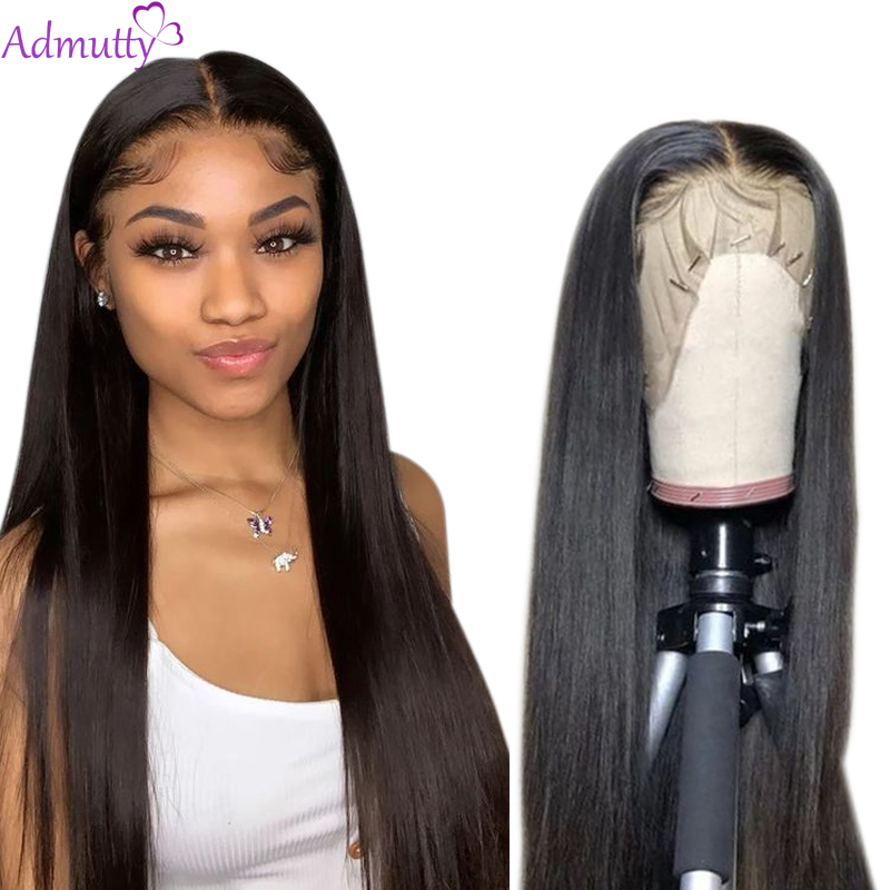 Peruvian Straight Lace Front Human Hair Wigs Natural Color Lace Wig Glueless Human Hair Wigs For Black Women With Baby Hair