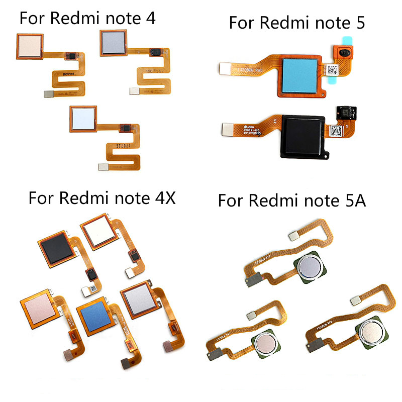 100% getestet Fingerprint Sensor Home Return Key Menü Taste Flex Band Kabel Für <font><b>Xiaomi</b></font> <font><b>Redmi</b></font> <font><b>Note</b></font> 4 4X5 5A 3 <font><b>Pro</b></font> Teile image