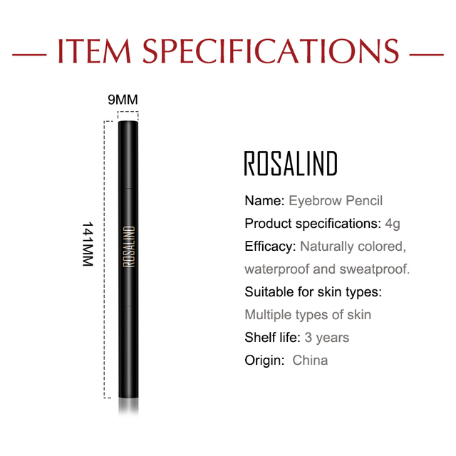 ROSALIND Eyebrow Shadows Pencil For Eyebrows Dye Marker Double End Eyebrow Pencil Tattoo Fine Sketch Brow Tint Cosmetic Stencil 5