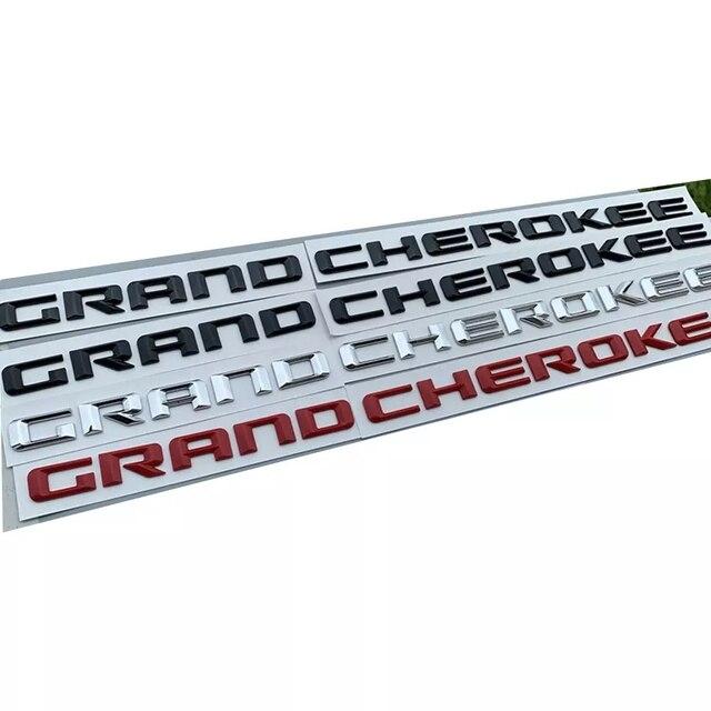 Für jeep Grand Cherokee Vorne Links Rechts Tür Seite Emblem Typenschild Abzeichen Logo Buchstaben Aufkleber