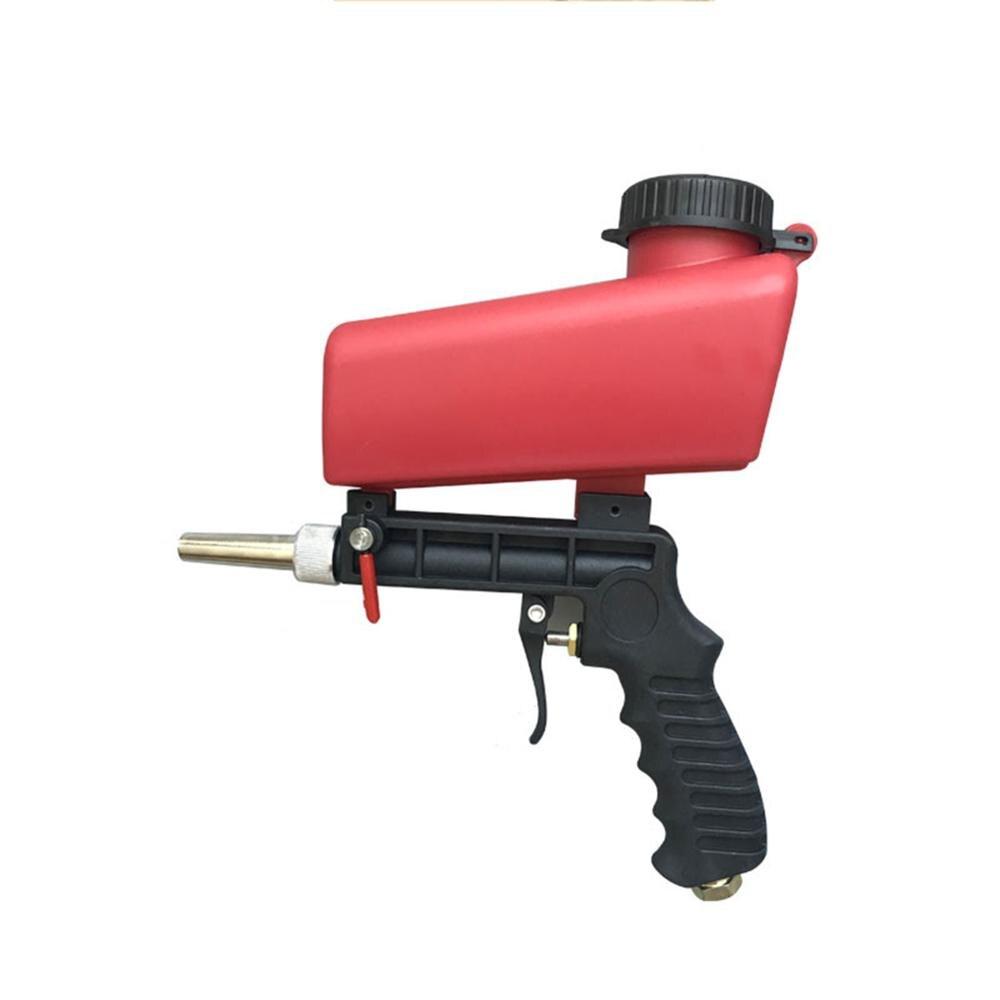90psi Gravity Sandblasting Gun Pneumatic 700cfm Gas Consumption Sand Blasting Machine Adjustable Pneumatic Sandblasting Tools